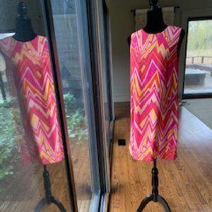 Missoni silk geometric patterned shift dress/new